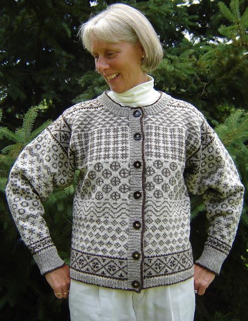 Faroese Sampler Cardigan Pattern