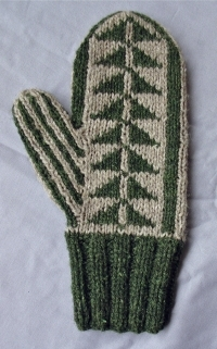 Knitting Pattern For Double Mittens : Pine Tree Mitten Pattern