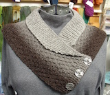 small buttoned shawl