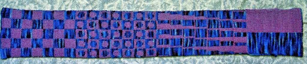 Double Knit Sampler Scarf Pattern